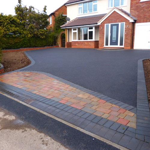 new driveway outside house