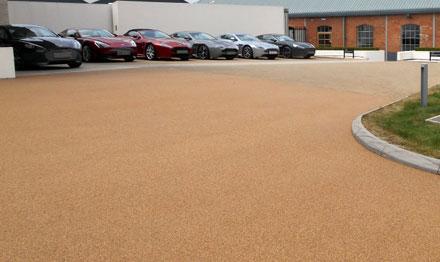 resin bound car showroom